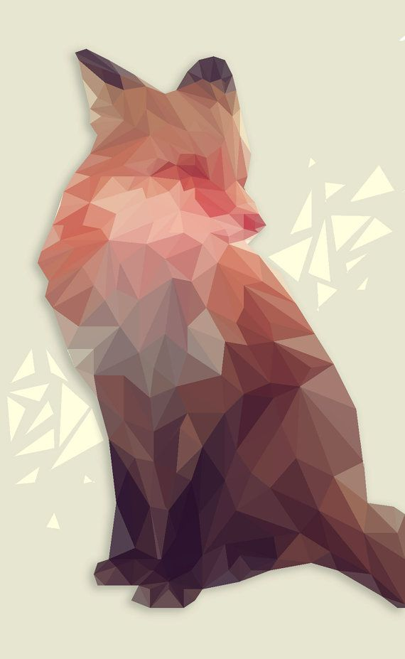 Low Poly Animal Portraits by InkandIdeas on Etsy