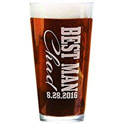 Single Groomsmen Beer Pub 16oz Personalized Craft Pub Groom Best Man Groomsman Wedding Party Custom Beer Mug