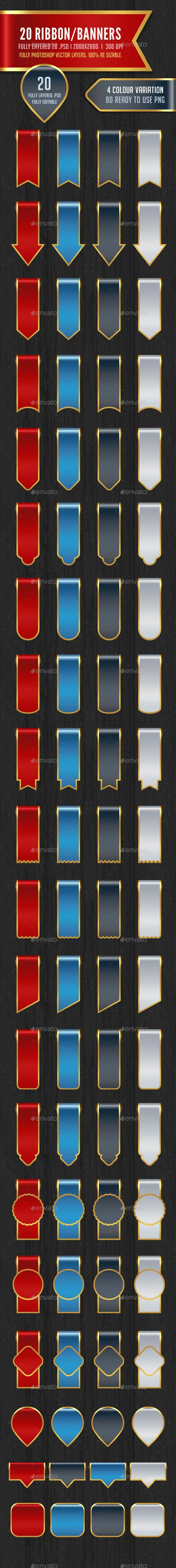 80 Ribbon / Banners