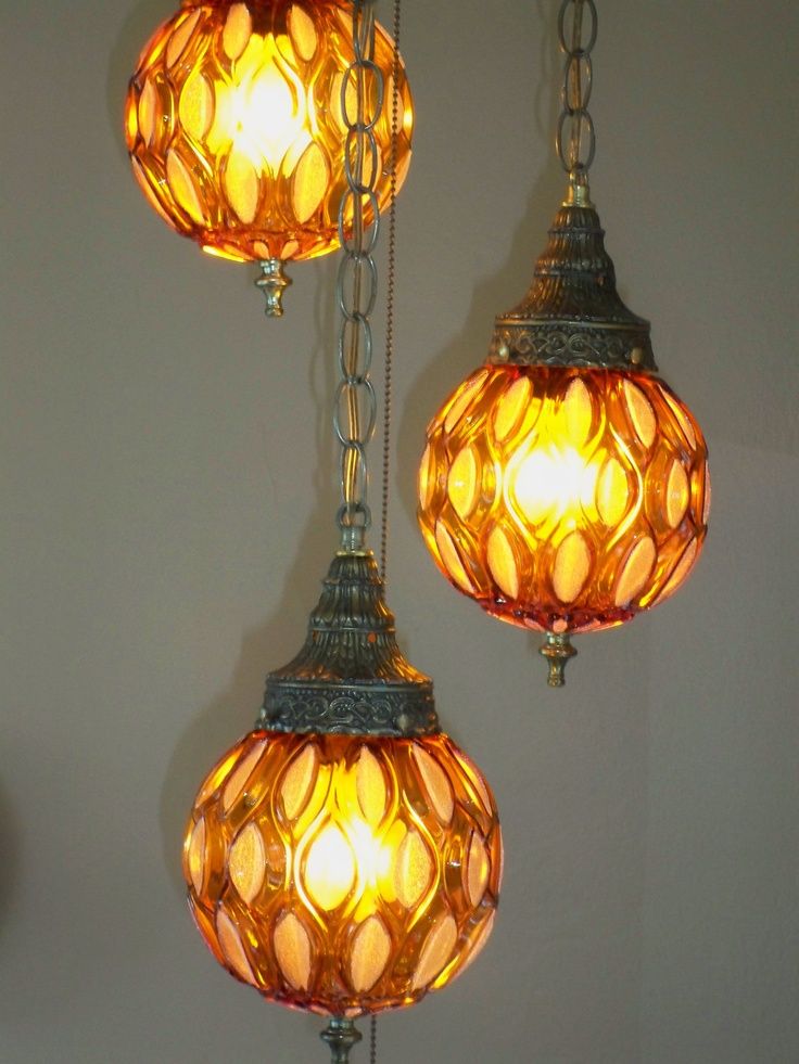 hanging swag lamps via retromodern home etsy