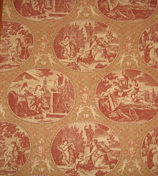 Reproduction Country Wallcovering Lee Jofa 1700s