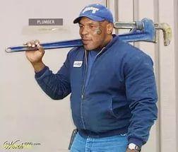 Вот например Тайсон-сантехник: кран починит, унитаз установит.