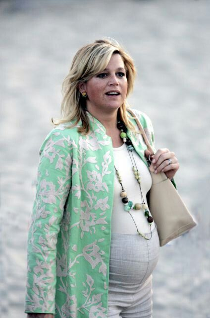 Pregnant Princess Maxima of the Netherlands