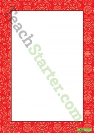 Chinese Border – Word Template