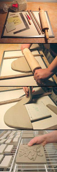 flattilesprocess: Making Tile, Flat Tiles, Ceramic Tile, Clay Tile, Clay Ceramics, Tile Making