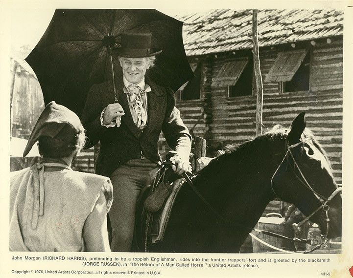 THE RETURN OF A MAN CALLED HORSE Orig 1976 Photo RICHARD HARRIS, JORGE RUSSEK