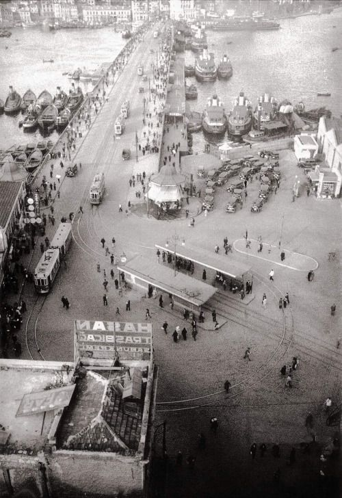 Photography is a universal language • Eminonu square, İstanbul, 1932 by unknown...