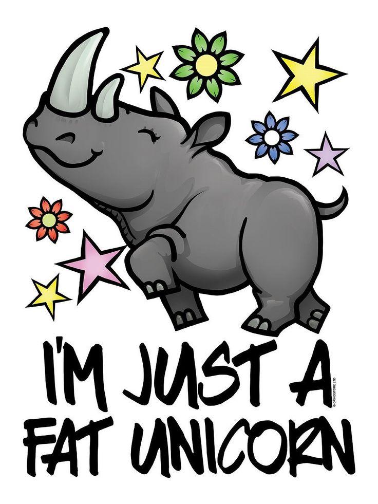 I'm Just A Fat Unicorn Haut Femme Blanc Coupe Fluide: Amazon.fr: Vêtements et accessoires