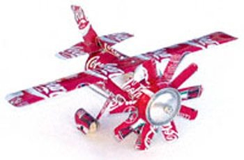 soda pop can crafts | ... instructions on how to make the Cessna from recycled soda (pop) cans