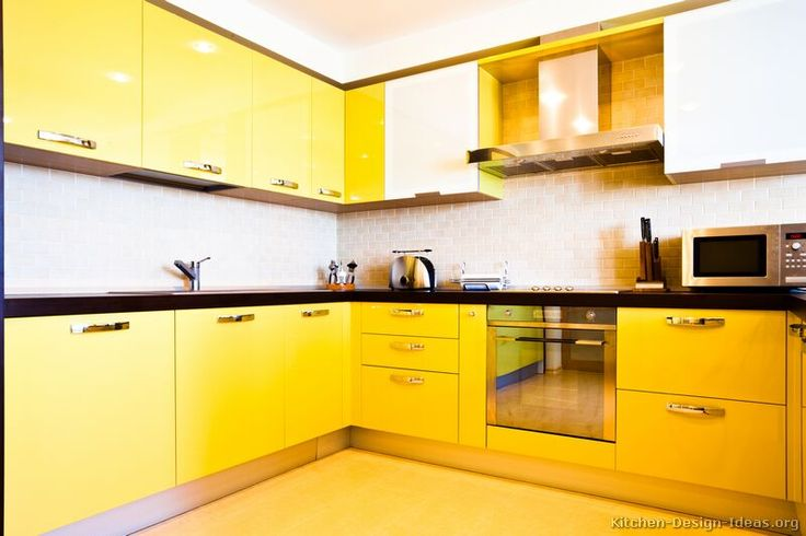 110 Best Images About Yellow Kitchens On Pinterest Traditional Modern Kitchen Cabinets And