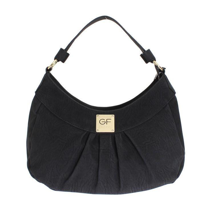 GF FERRE Black Hobo Shoulder Bag Handbag #black #cf-color-black #cf-size-small