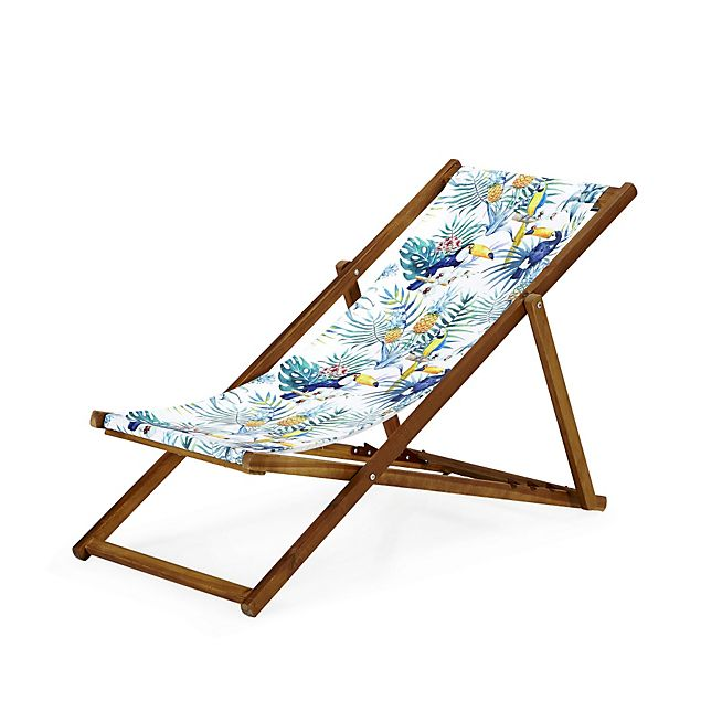 Amazing Tropicale Chilienne 4 Positions à Motifs Tropicaux Jungle. Folding Chair JunglesGroundsBalcony Awesome Ideas