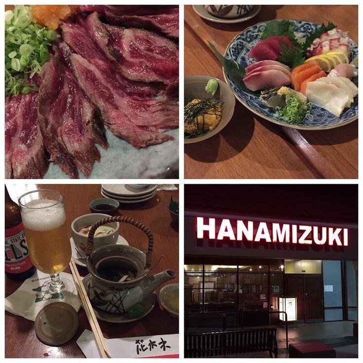 アメ食に飽きてきた展示会初日のディナーは正統派日本食レストラン 松茸の土瓶蒸し&茶碗蒸し刺盛り生うに牛タタキと美味しかった #dinner#sashimi#beef#tataki#yummy #japanese#cuisine by hinamariku
