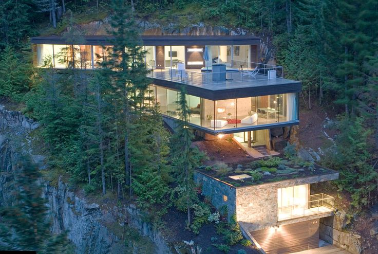 Very Steep Slope House Plans Slope House Design Canada