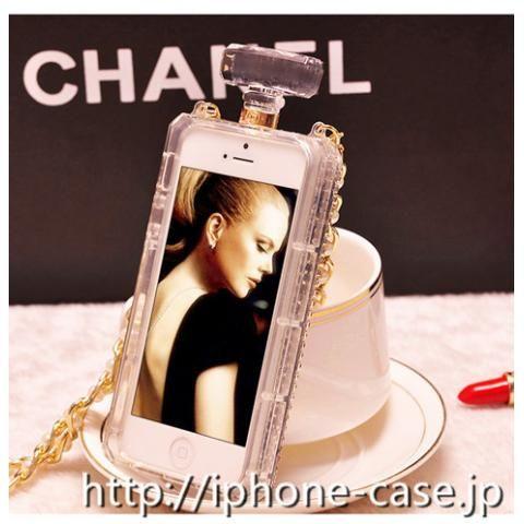 Chanel galaxy s8 エッジカバー 安い 香水型なデザインのiPhone 7s/iPhone 7携帯ケース 女性らしい  ショルダーチェーン付き オシャレ 送料無料