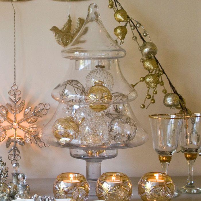 Glass christmas tree jar christmas pinterest for Christmas glass jars