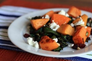 Warm Swiss Chard Salad with Roasted Butternut Squash: Swiss Chard Salad, Warm Swiss, Roasted Butternut Squash, Pine Nut, Squash Salad, Squashes, Favorite Recipes, Goats Cheese, Goat Cheese
