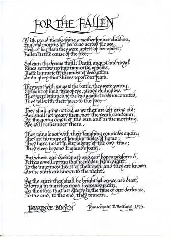 An overview of the burning of the leaves poem by robert laurence binyon