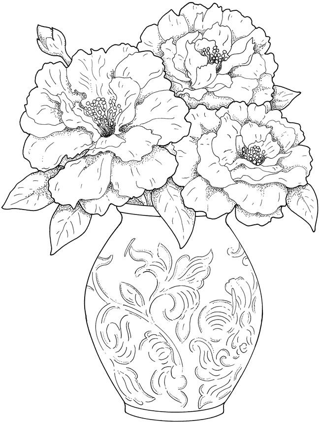 creative haven beautiful flower arrangements coloring book pages - Color Book Pages