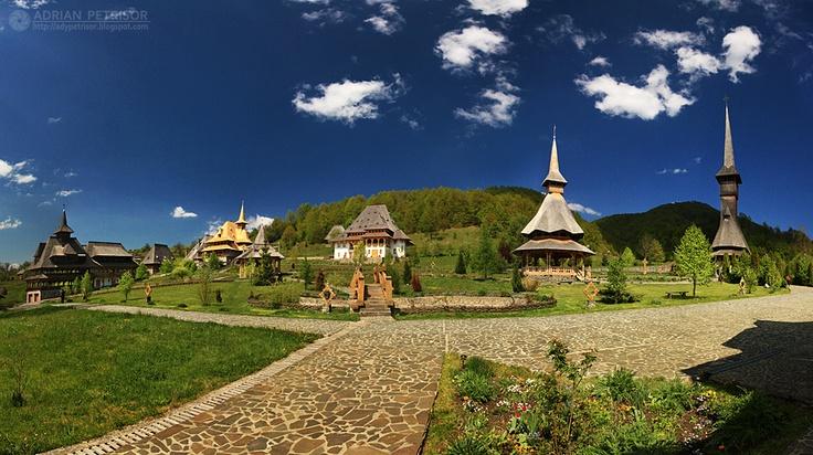Manastirea Barsana-MaramuresRomanian Monastery, Manastirea Barsana Maramures, Barsana Monastery, Romania Wonder