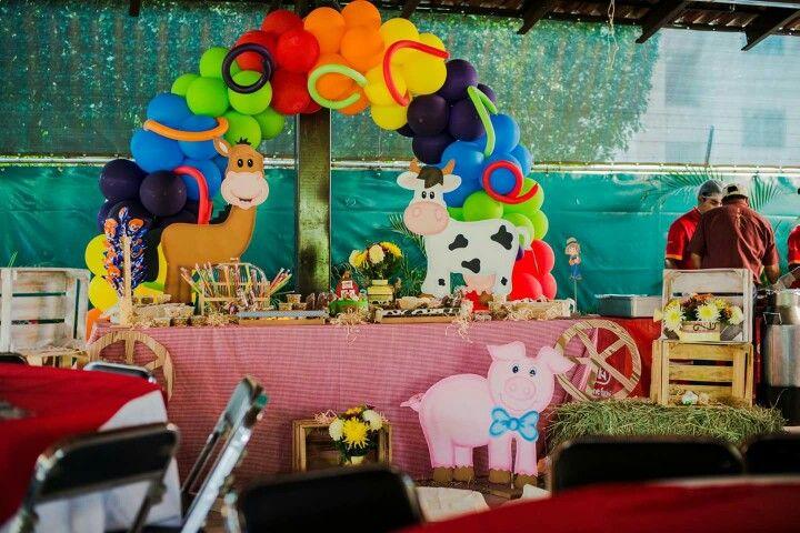 Candy Bar Farm Party Ideas Fiesta Tem 225 Tica De Granja
