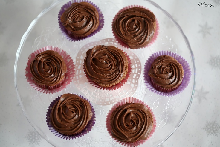 Chocomousse roses (muffin)