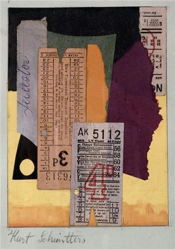 Kurt Schwitters,1887 - 1948, Collage and watercolor