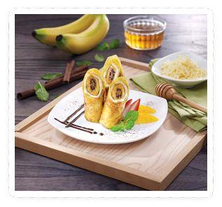 Dadar gulung pisang keju. (In english : banana & cheese crepe)