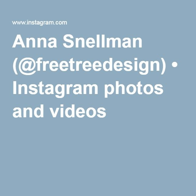Anna Snellman (@freetreedesign) • Instagram photos and videos
