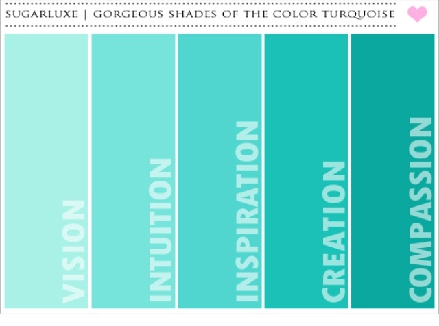 Shades of teal paint colors pinterest shades of teal What color is teal