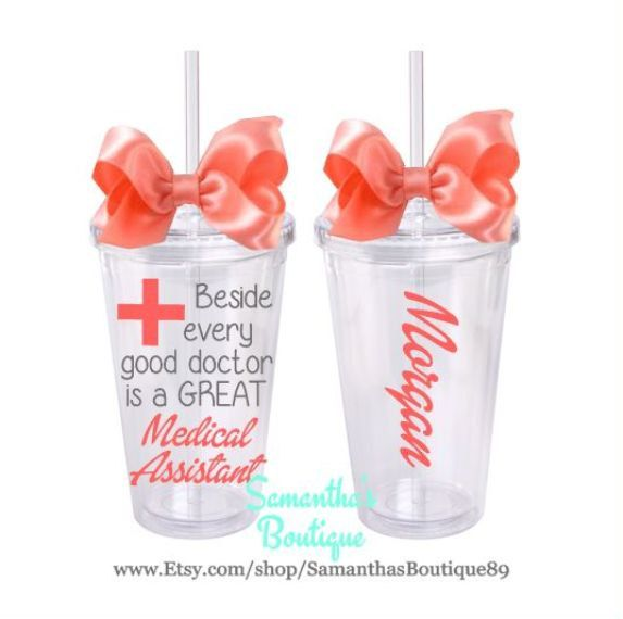 Beside every good doctor is a GREAT Medical Assistant Classic Tumbler With Name by SamanthasBoutique89 on Etsy