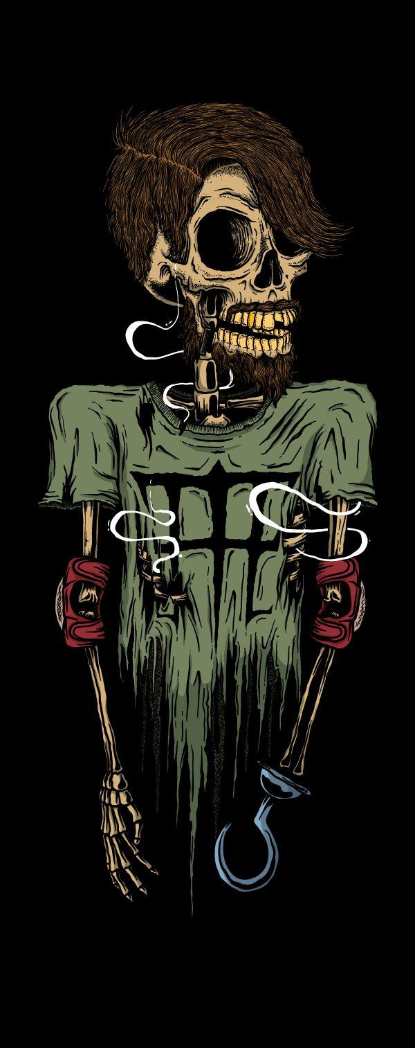 ~ Black Skulls Series by Luan Brombim, via #Behance ~