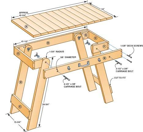 UPDATE: 3/19/15 - Grill Table - It's a handy companion for your barbecue and folds up for easy storage.  By Bruce Wiebe, Lakeville, Minnesota
