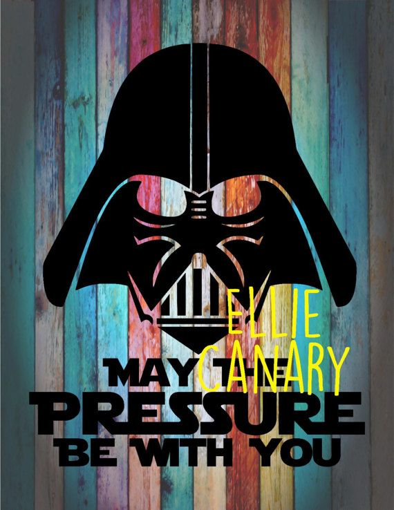 Darth vader star wars may the pressure be with you decal rainbow background not included car tumbler yeti wall decal