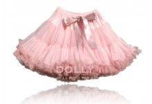 Spódniczka szyfonowa Le Petit Tom Isabella Pink + spódniczka dla lalki