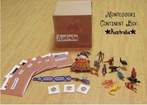 Australia Montessori Continent Box. I love these!!! #Montessori, #Geography, #learningisfun