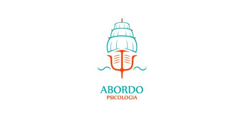 """Abordo Psicologia"" (Aboard Psuchology) is a group of debates about psychology conducted periodically in the State of Alagoas, Brazil. The logo was developed almost from the Greek letter ""psi"" (Ψ), universal symbol of psychology. The term ""Abordo"" in Brazilian Portuguese sounds also like to approach (talk about a topic). It is as if the participants of the group discussions were aboard the boat of psychology to navigate through their areas of expertise - this is the purpose of this logo."