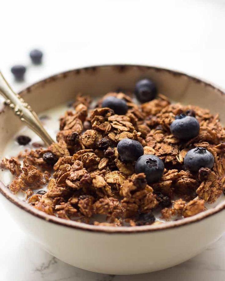 Vegan Tahini Granola. Oil-free, Gluten-free, Sugar-free ...