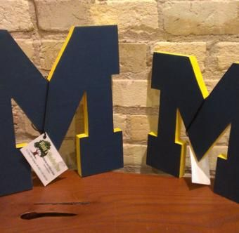 University of Michigan Wooden Letters