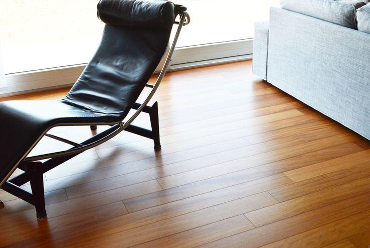 Il nostro tavolato MaxiTop in Doussiè, finiture naturali e qualità 100% Made in Italy, pavimento in legno disponibile in vari formati.