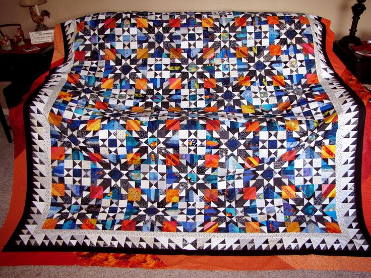 Pieced Quilt Borders | WIP Wednesday – Orca Bay Mystery Quilt Part 8 |
