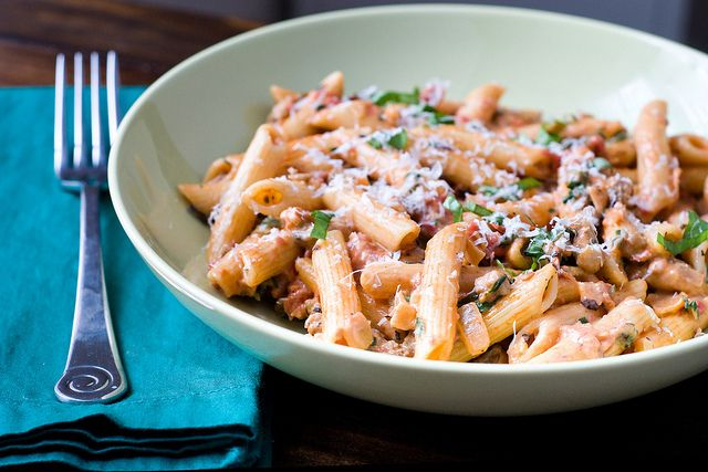 Creamy Tomato Chicken Pasta by Courtney | Cook Like a Champion, via Flickr