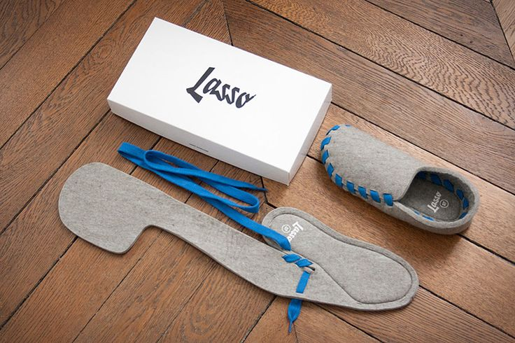 Lasso Flat-Packed Slippers-Just think of them as an Ikea product for your feet. Like our favorite affordable Swedish furniture, Lasso Flat-Packed Slippers (roughly $40) arrive in a slim box ready to be assembled. Made from a single piece of grey wool felt, they feature a hearty leather sole, and your choice of laces, which you use to build the shoe by sewing them through precut holes.