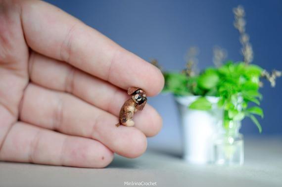 Miniatur Dachshund 0 79 Zoll 2 Cm Tiny Realistic Dog Tiere Hakeln Miniatur Dachshunde