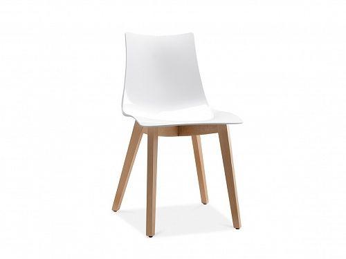 Krzesło - biało-jasnobrązowy - NATURAL ZEBRA_370254