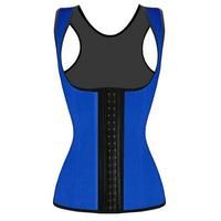 True Blue Latex Corset Vest