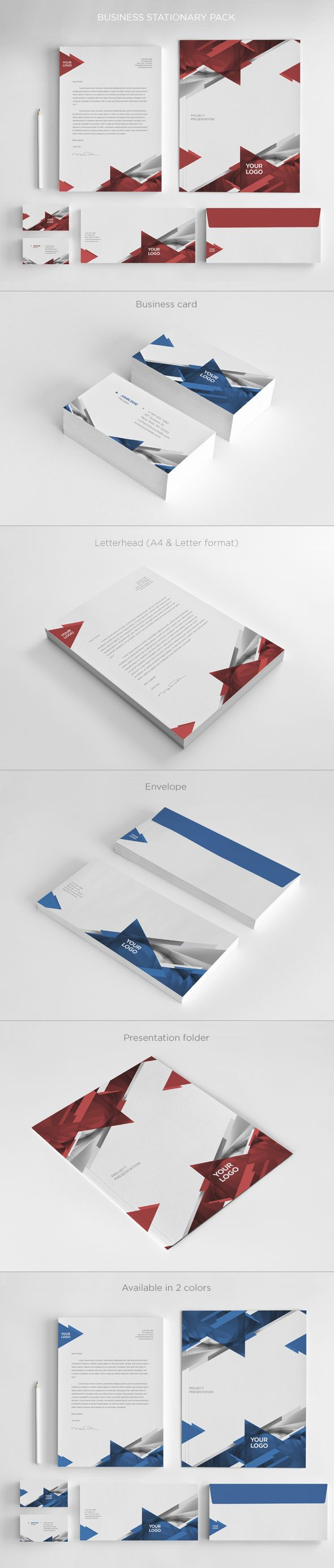 Business Stationary Pack. Download here: http://graphicriver.net/item/business-stationary-pack/4706850?ref=abradesign #design #stationary