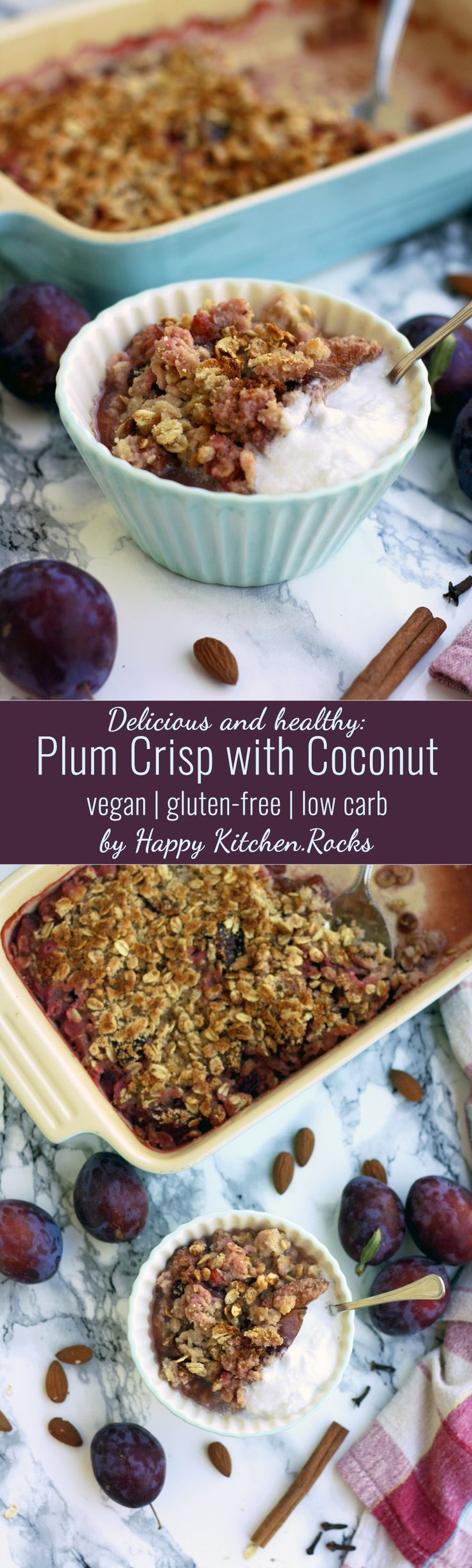 Delicious, vegan and gluten-free plum crisp with coconut makes for a great…