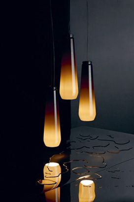 'Glassdrop' pendant lamps, by Diesel and Foscarini