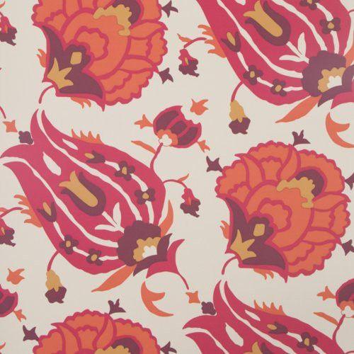 Groundworks TURKISH FLOWER RUBY Wallpaper